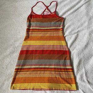 H&M orange tone striped bodycon T-back dress
